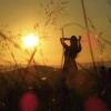 Coucher de soleil sur la colline de la chaux
