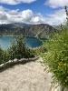O lago de um vulcão